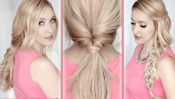 Если вы ищите прически на средние волосы с закрытыми ушами, остановите свой выбор на хаотичном плетении с выпущенными передними прядями