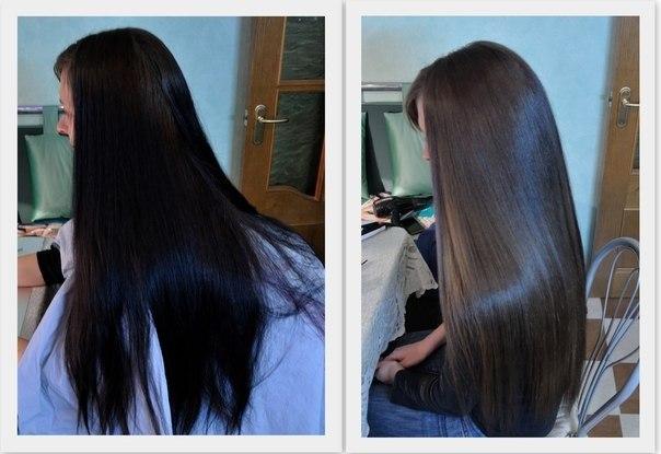 смывка волос с черного цвета фото до и после