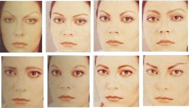 формы фото бровей для овального лица