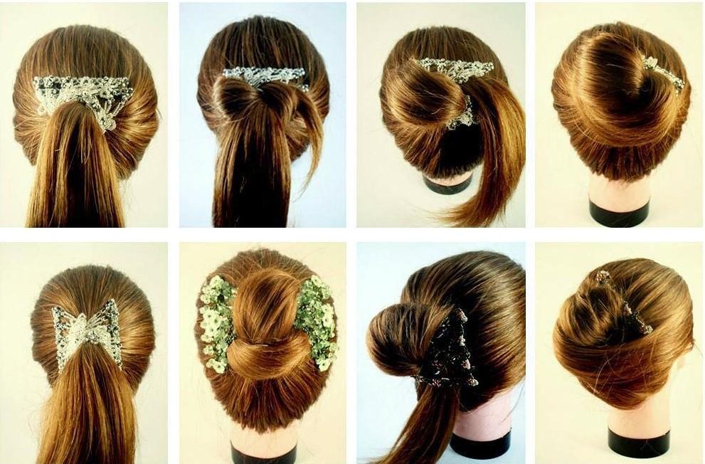 Прически с волосами на зажимах фото