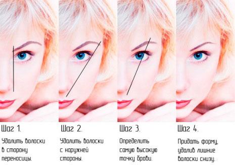 Фото: четыре шага к идеальной брови