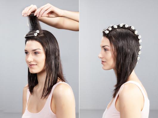 Фото: как делается накручивание волос на коклюшки.