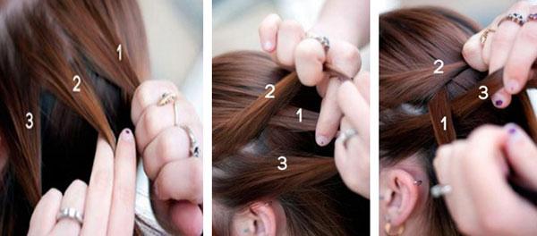 Как сделать косу на выворот фото 678