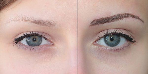 Фото результата проведения долговременного макияжа волосков в салоне