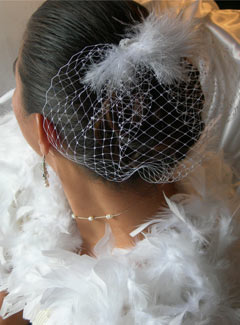 Фото сетки, используемой в качестве украшения шевелюры