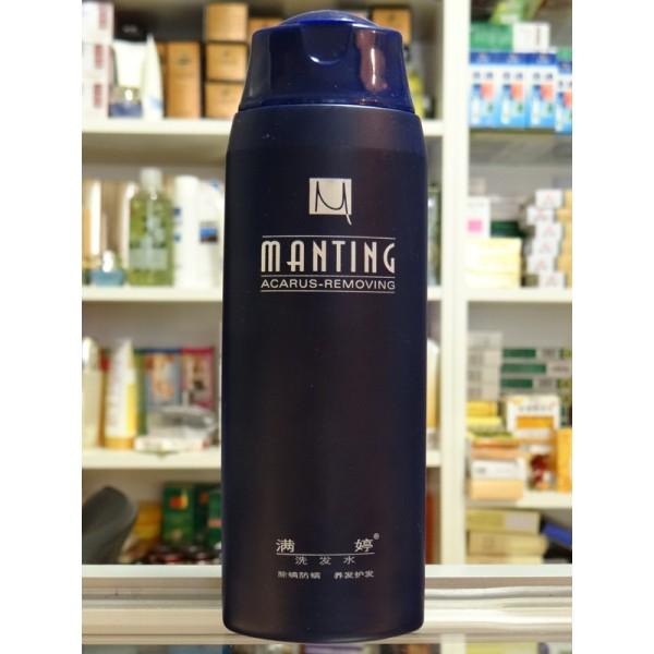 Фото шампуня «Мантинг», который не только лечит от подкожных клещей, но и укрепляет волосы.