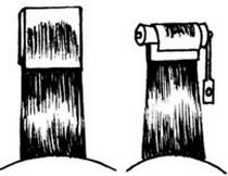 Фото: схема накручивания волос с бумагой