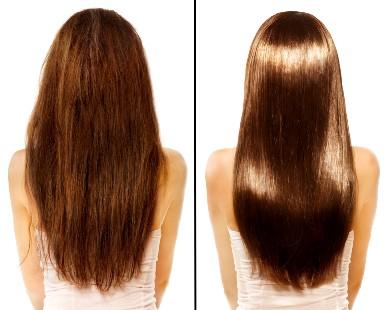 Фото волос до и после применения ополаскивателя
