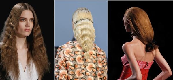 Гофре с помощью фольги можно создать на всей массе волос или на отдельных прядях