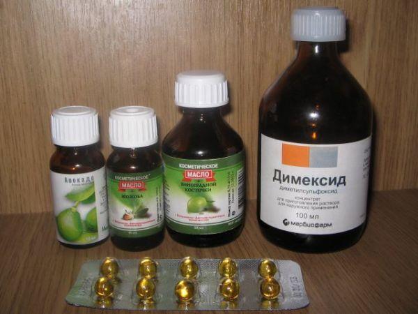 Храните масла и «Димексид» в темной таре. Цена нарушения условий хранения – ваше здоровье!