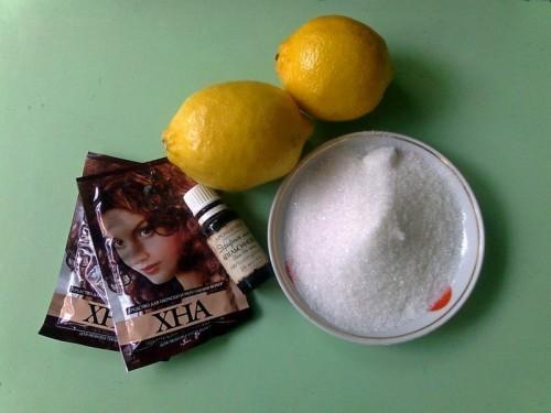 Ингредиенты для приготовления красящей пасты
