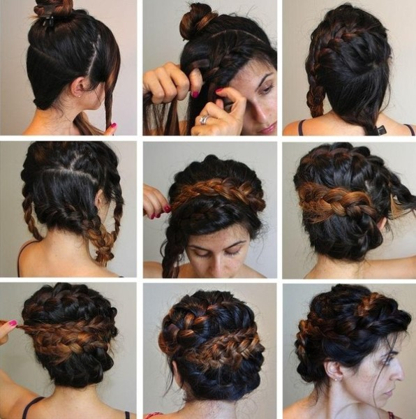 Инструкция по созданию греческого пучка из кос