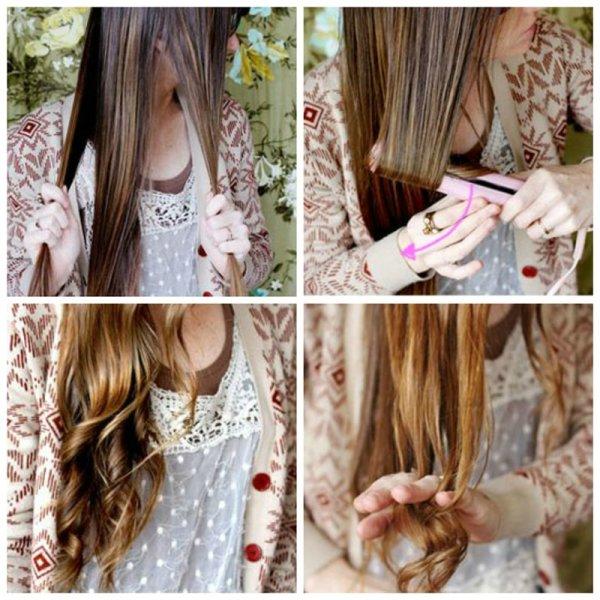 Инструкция по созданию локонов на длинных волосах