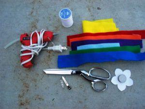 Инструменты и материалы для заколки-хамелеона