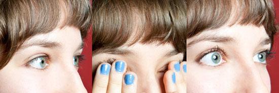 Используя подушечки пальцев можно не только эффективно приподнять волоски, но и расслабить напряжённые мышцы глаз