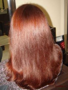 Изумительный медно-красный цвет, естественный блеск и шелковистость волос