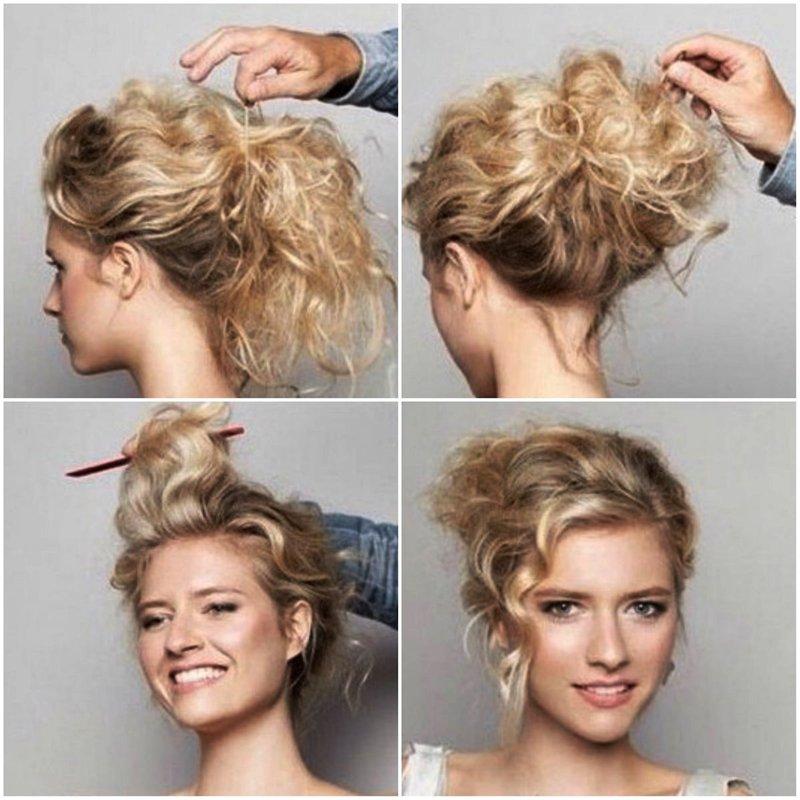 Как сделать из волос шишку фото 889