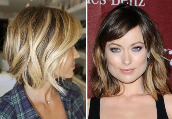 Каре на удлинение с челкой для тонких волос отлично сочетается с многоцветным окрашиванием и легкими волнами