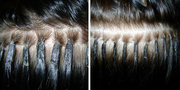 Кератиновое наращивание волос – самый востребованный вид.