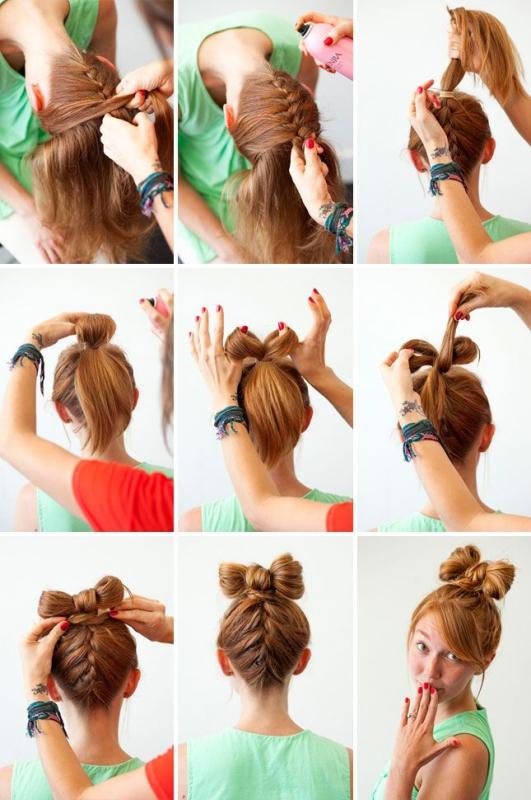 Как из банта сделать косу фото 988