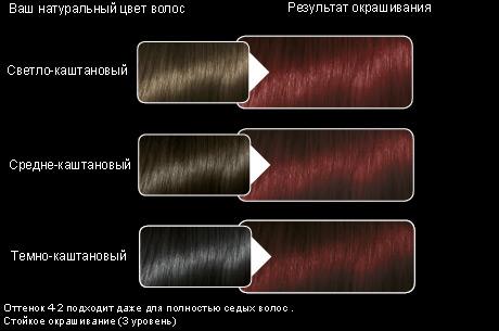 Краска для волос красное дерево (4-2) от Syoss