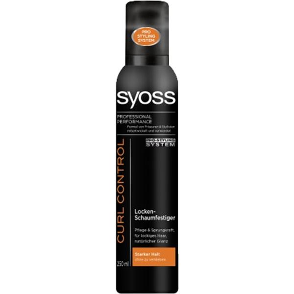 Мусс Curl Control от Syoss выпускается с многообразной степенью фиксации.