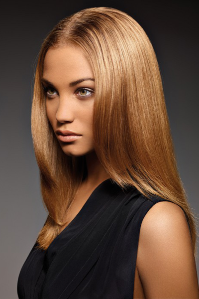На фото – карамельные волосы