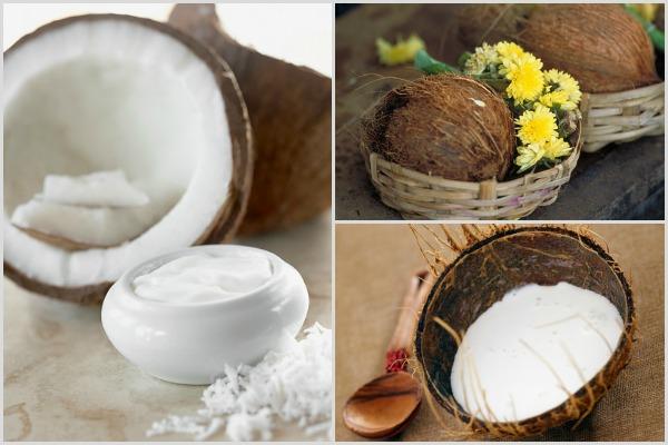 На фото – кокосовое масло