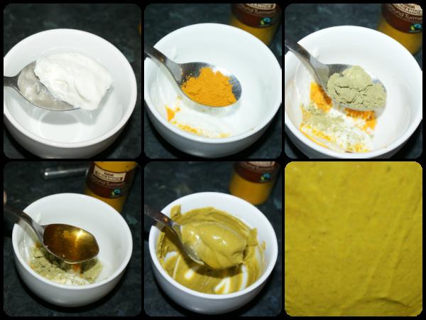 На фото – наглядный рецепт приготовления маски