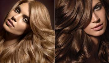 На фото – волосы до и после тонировки