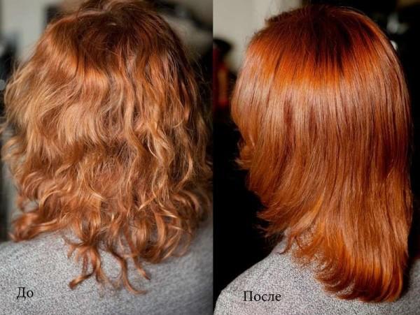 На фото – волосы, окрашенные хной