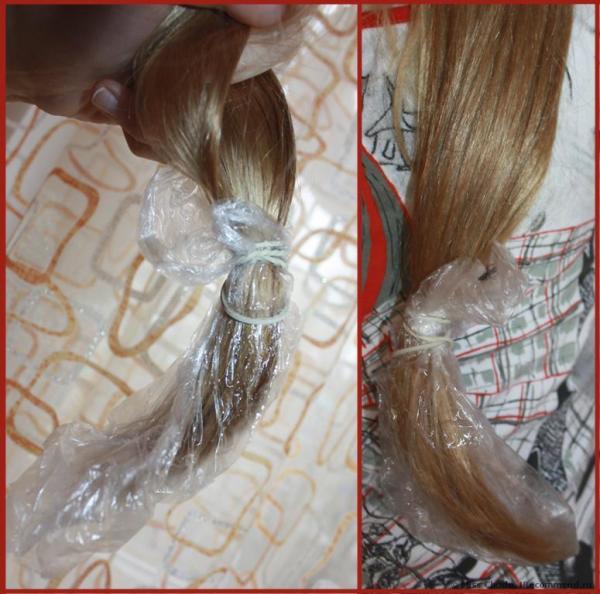На фото показано, как делать оборачивание кончиков волос.