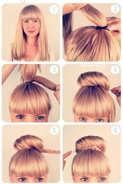 Как сделать объемную гульку из волос фото 489