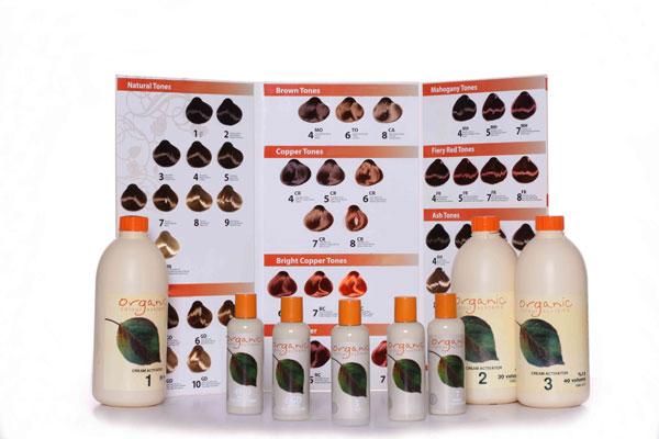 На фото представлена палитра органической краски от бренда Organic Colour Systems