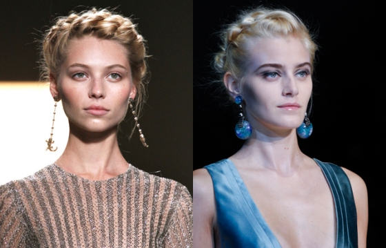 На модных показах стилисты нередко прибегают к элегантным и практичным «корзинкам» из волос