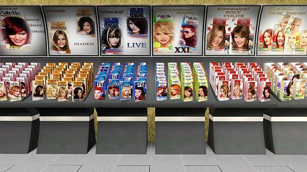 На витринах магазинов пестрят краски для волос любых оттенков.