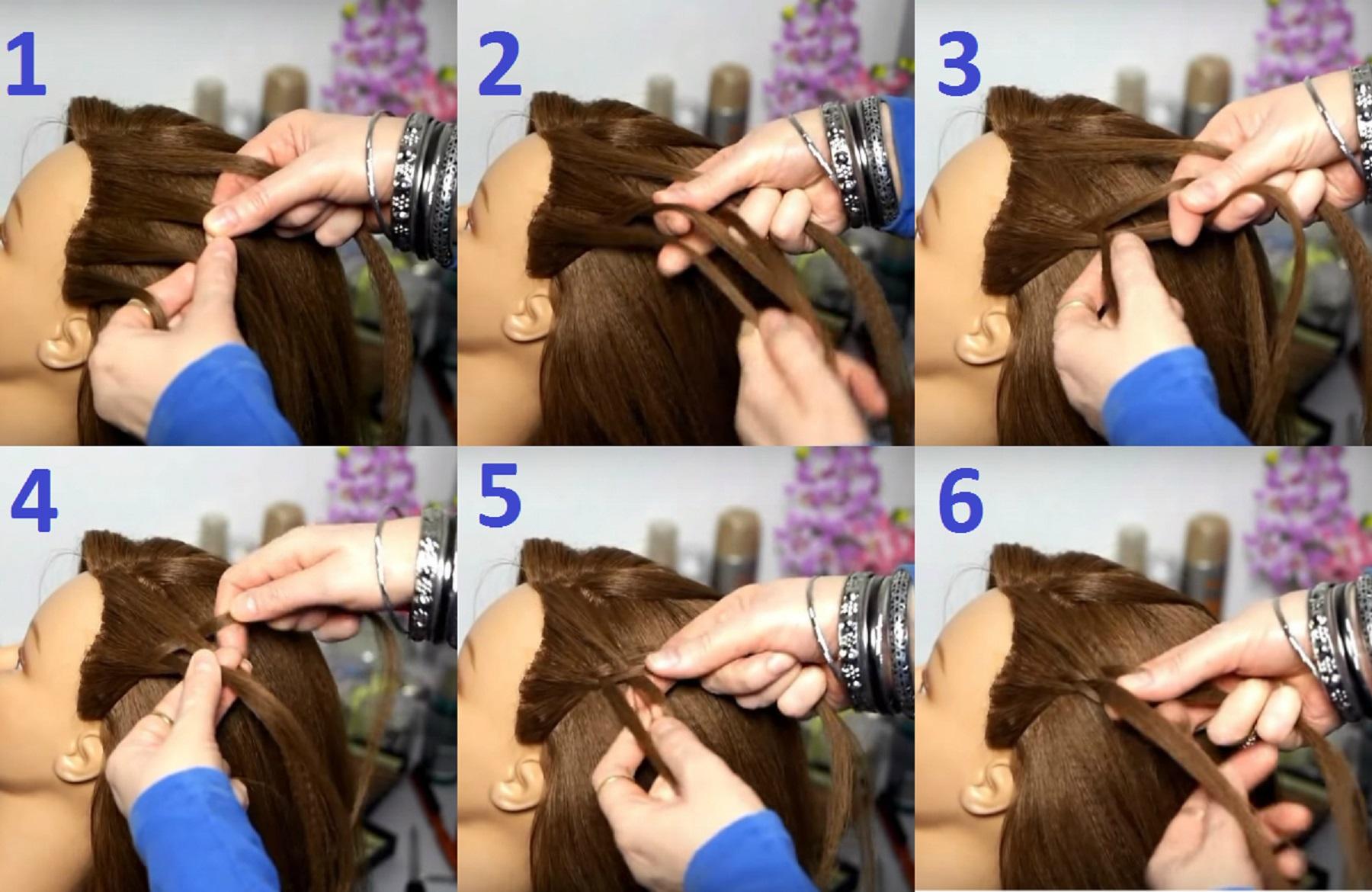 кухне плетение кос фото пошагово на средние волосы практики