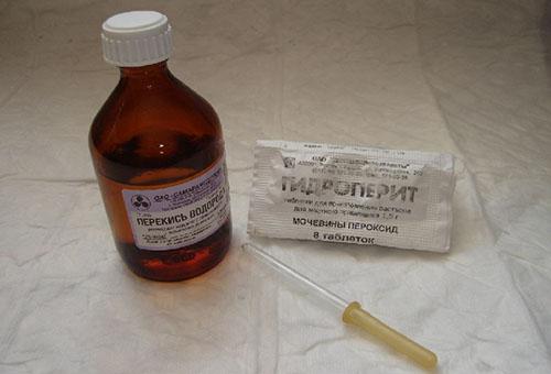 Надежный способ осветления – применение растолченных таблеток гидроперита
