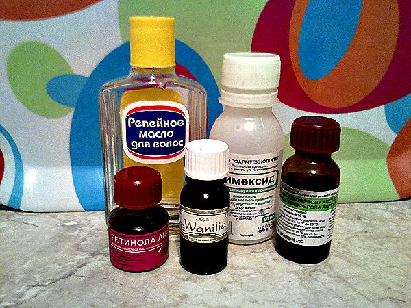 Наиболее подходящие компоненты для создания маски своими руками – витамины и масла