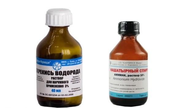 Нашатырный спирт, перекись водорода и прочие ингредиенты помогут в осветлении нежелательной растительности