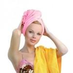 Натуральные хлопчатобумажные и вафельные полотенца лучше впитывают влагу