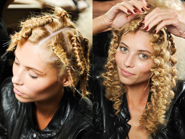 Небольшая фото-инструкция, которая подскажет, как накрутить выпрямителем волосы, используя простые шпильки