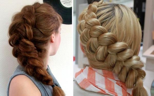 Недостает объема? Коса навыворот – красивое решение!