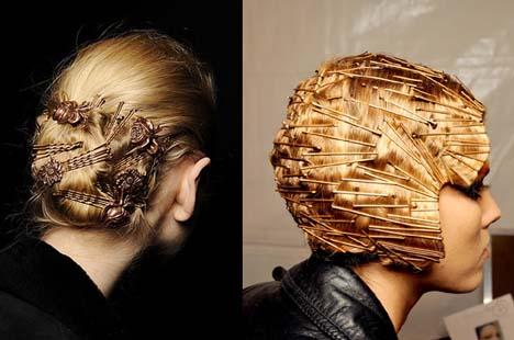Невидимки для волос прически фото