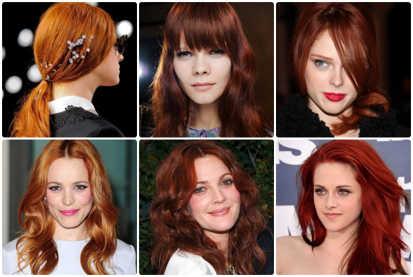 О том, как подобрать рыжий цвет волос стоит задумываться представительницам осеннего цветотипа
