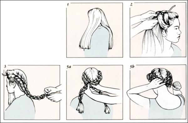 Один из вариантов создания греческой косы