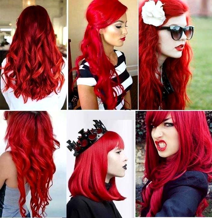 Как сделать ярко красные волосы фото 296