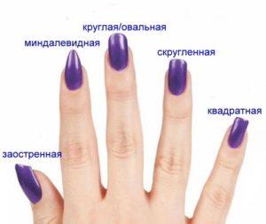 Подберите оптимальную форму и длину ногтей