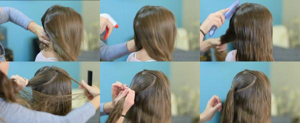 Подготовка волос перед плетением жгутов