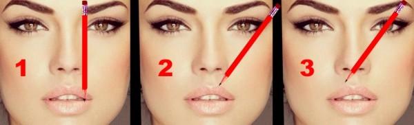 Правильно определить границы брови поможет обычный карандаш